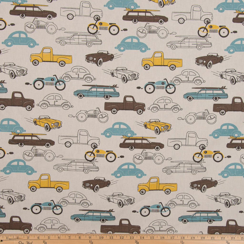 Traffic Jam Car Fabric