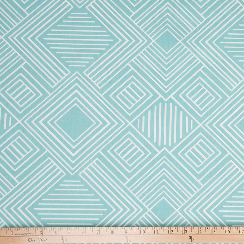 Soho Aqua Print Fabric - Shop Baby Slings & wraps, Baby Bedding & Home Decor !