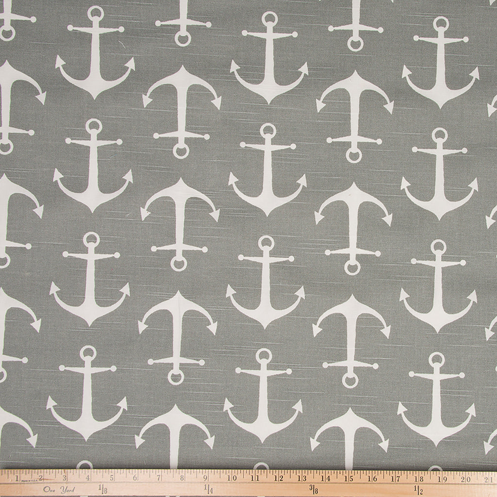 Fish Tales Anchor Print Fabric - Shop Baby Slings & wraps, Baby Bedding & Home Decor !