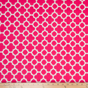 Pippin Pink Quatrefoil Fabric - Shop Baby Slings & wraps, Baby Bedding & Home Decor !