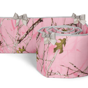 Camo Baby Pink Bumper - Shop Baby Slings & wraps, Baby Bedding & Home Decor !