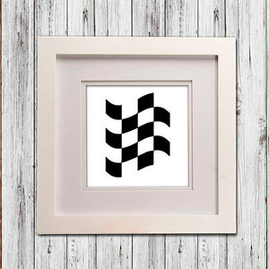 Fast Track Framed Wall Art Checker Flag - Shop Baby Slings & wraps, Baby Bedding & Home Decor !