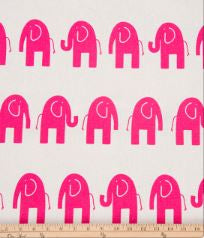 Ellie & Stretch Pink Elephant Fabric - Shop Baby Slings & wraps, Baby Bedding & Home Decor !