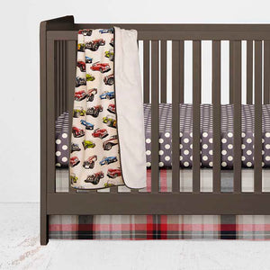 Fast Track Crib Skirt - Shop Baby Slings & wraps, Baby Bedding & Home Decor !