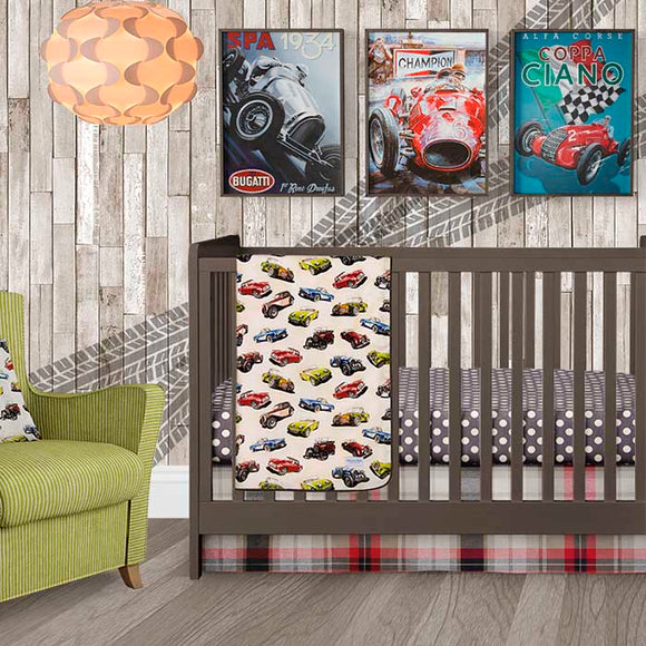 FAST TRACK 3PC SET (INCLUDES QUILT, DOT SHEET, CRIB SKIRT) - Shop Baby Slings & wraps, Baby Bedding & Home Decor !
