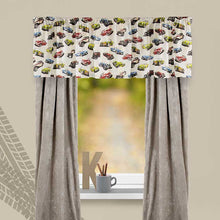 "Load image into Gallery viewer, Fast Track Window Valance   (92x18"") - Shop Baby Slings & wraps, Baby Bedding & Home Decor !"