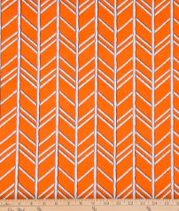 Happy Camper Orange Chevron Fabric - Shop Baby Slings & wraps, Baby Bedding & Home Decor !
