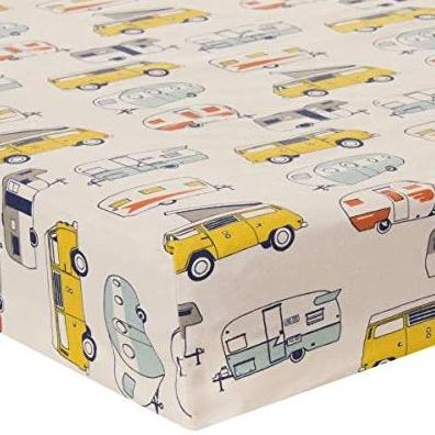 Happy Camper Mini Crib Sheet - Shop Baby Slings & wraps, Baby Bedding & Home Decor !