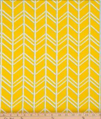Happy Camper Yellow Chevron Fabric - Shop Baby Slings & wraps, Baby Bedding & Home Decor !