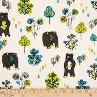 North Country Bear Print Fabric - Shop Baby Slings & wraps, Baby Bedding & Home Decor !