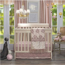 Load image into Gallery viewer, Remember My Love Mini Crib Dust Ruffle Mini Crib Skirt by Glenna Jean | Baby Girl Nursery + Hand Crafted with Premium Quality Fabrics - Shop Baby Slings & wraps, Baby Bedding & Home Decor !