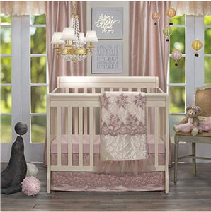 Remember My Love Mini Crib Dust Ruffle Mini Crib Skirt by Glenna Jean | Baby Girl Nursery + Hand Crafted with Premium Quality Fabrics - Shop Baby Slings & wraps, Baby Bedding & Home Decor !