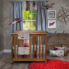 Load image into Gallery viewer, Fly-By Mini Crib Skirt - Shop Baby Slings & wraps, Baby Bedding & Home Decor !