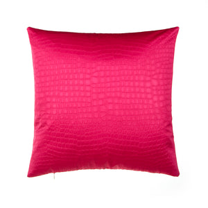 "Magenta Croc Pillow 18"" - Shop Baby Slings & wraps, Baby Bedding & Home Decor !"