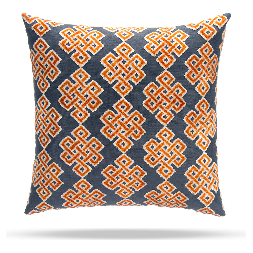 Infinity Square Citrus Pillow 18