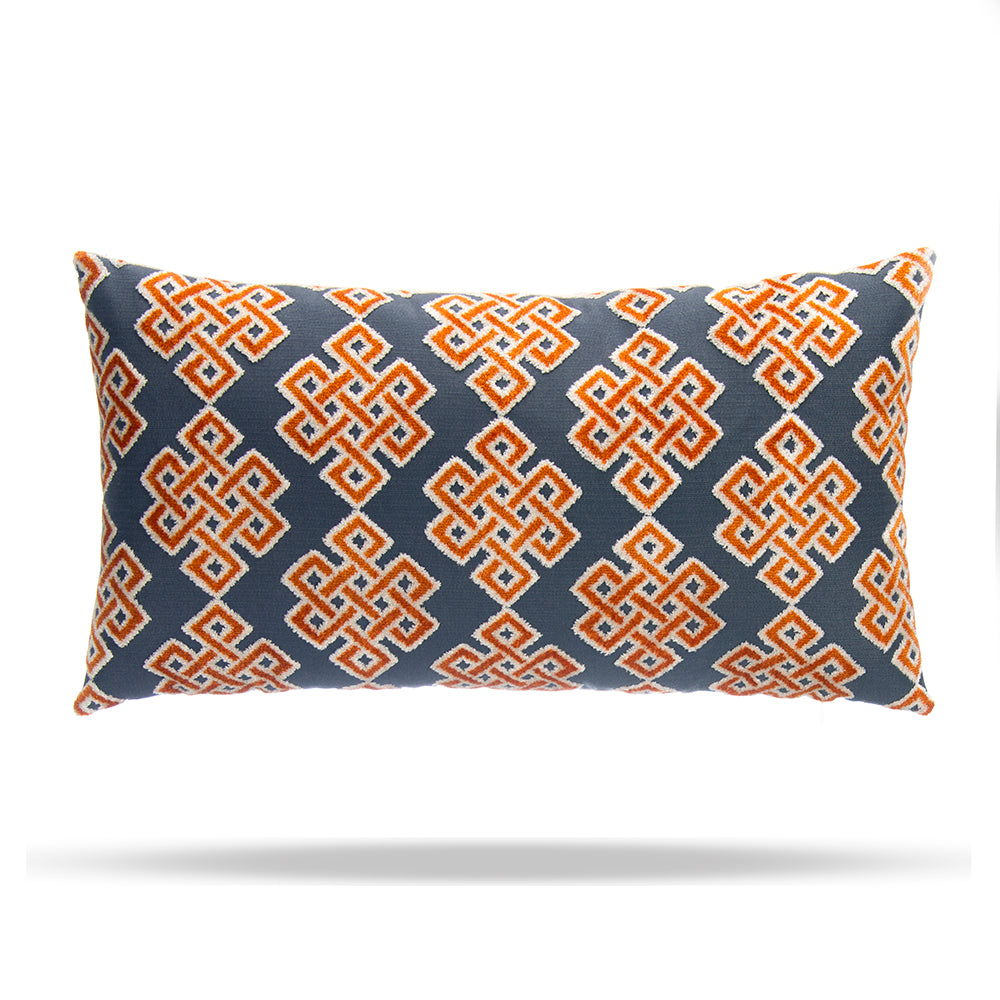 "Infinity Square Citrus Lumbar Pillow 12""x22"" - Shop Baby Slings & wraps, Baby Bedding & Home Decor !"