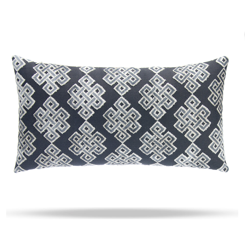 "Infinity Square Steel Lumbar Pillow 12""x22"" - Shop Baby Slings & wraps, Baby Bedding & Home Decor !"