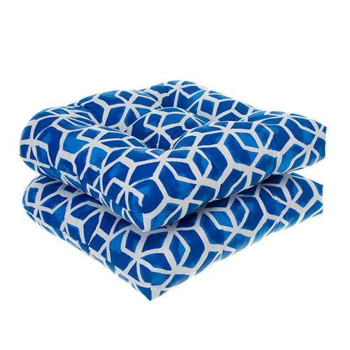 Cubed - Blue Wicker Chair Cushion Pack of 2 19