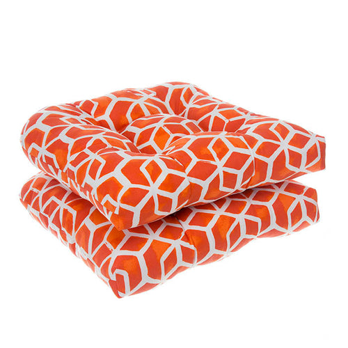Cubed - Orange Wicker Chair Cushion Pack of 2 19