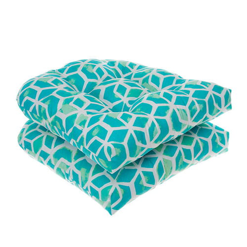 Cubed - Teal Wicker Chair Cushion Pack of 2 19