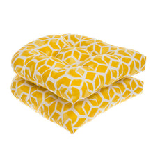 "Load image into Gallery viewer, Cubed - Yellow Wicker Chair Cushion Pack of 2 19""x19""x5"" - Shop Baby Slings & wraps, Baby Bedding & Home Decor !"