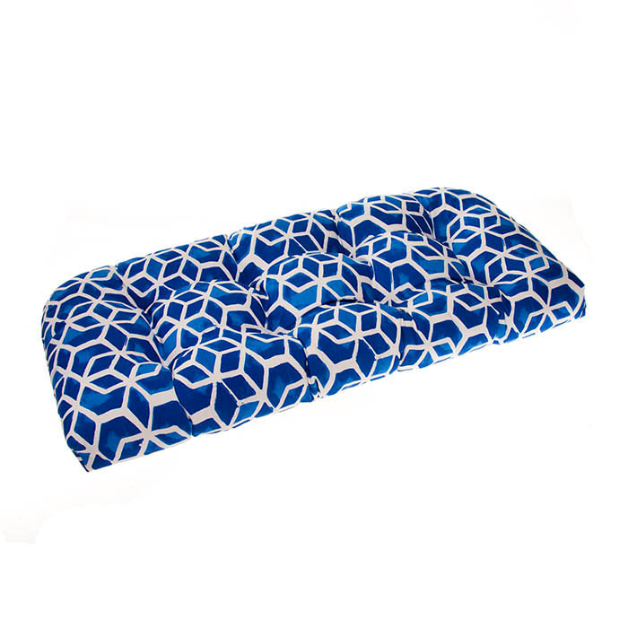 Cubed - Blue Wicker Loveseat Cushion 44