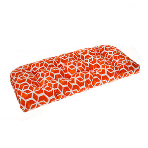 "Cubed - Orange Wicker Loveseat Cushion 44""x19""x5"" - Shop Baby Slings & wraps, Baby Bedding & Home Decor !"