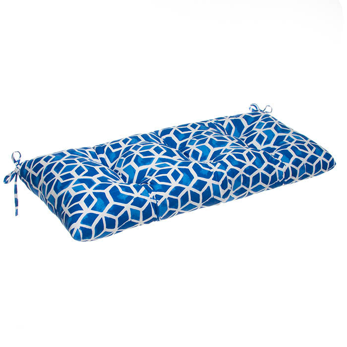 Cubed - Blue Tufted Loveseat Cushion 44