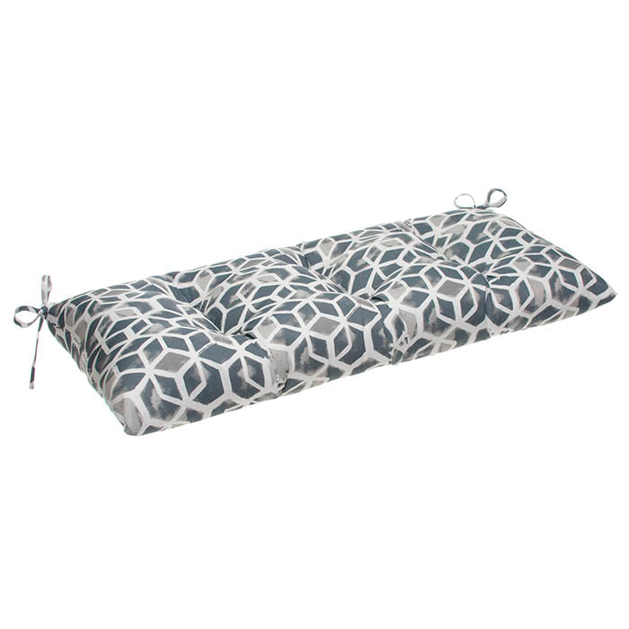 Cubed - Grey Tufted Loveseat Cushion 44
