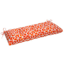 "Load image into Gallery viewer, Cubed - Orange Tufted Loveseat Cushion 44""x18.5""x6"" - Shop Baby Slings & wraps, Baby Bedding & Home Decor !"