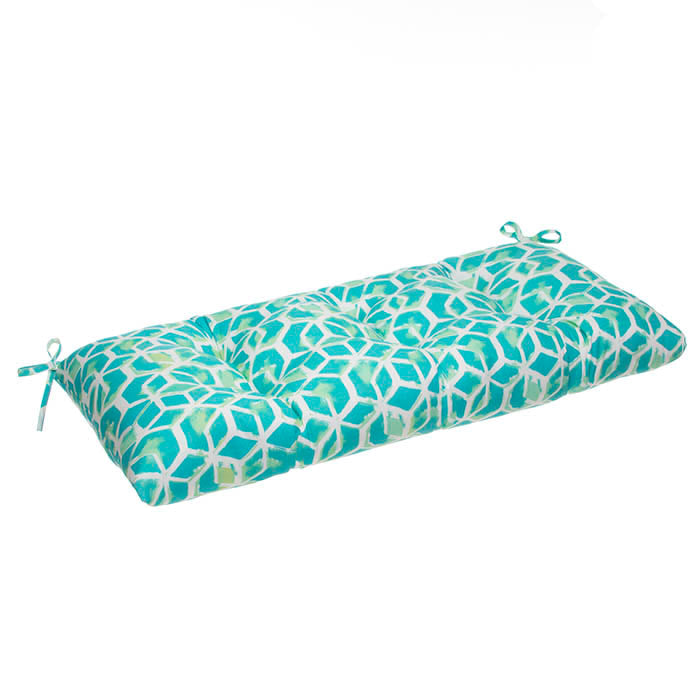 Cubed - Teal Tufted Loveseat Cushion 44
