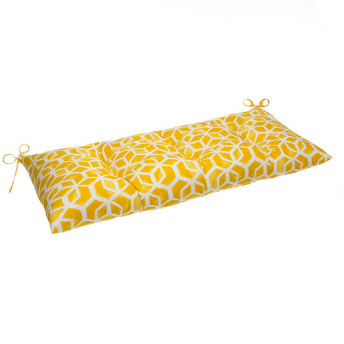 Cubed - Yellow Tufted Loveseat Cushion 44