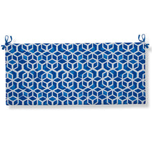 "Load image into Gallery viewer, Cubed - Blue Bench/Porch Swing Cushion 45""x18""x3"" - Shop Baby Slings & wraps, Baby Bedding & Home Decor !"