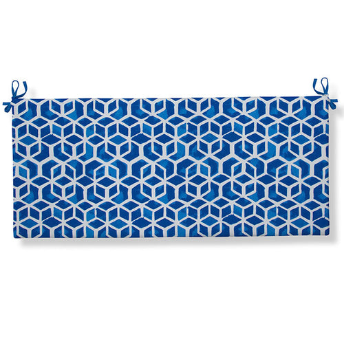 Cubed - Blue Bench/Porch Swing Cushion 45