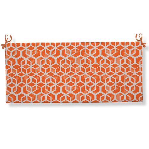 Cubed - Orange Bench/Porch Swing Cushion 45