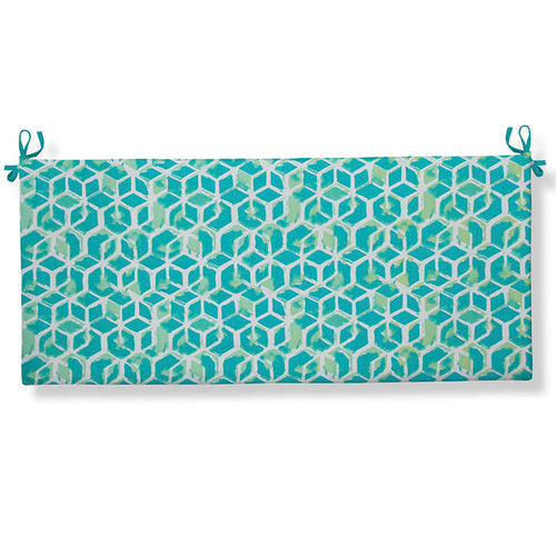 Cubed - Teal Bench/Porch Swing Cushion 45