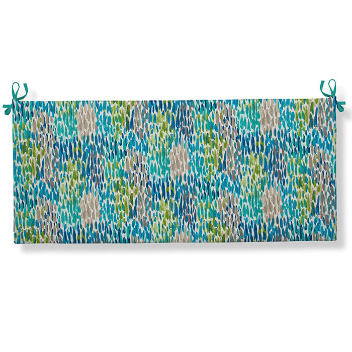 Peacock Feathers - Blue Bench/Porch Swing Cushion 45