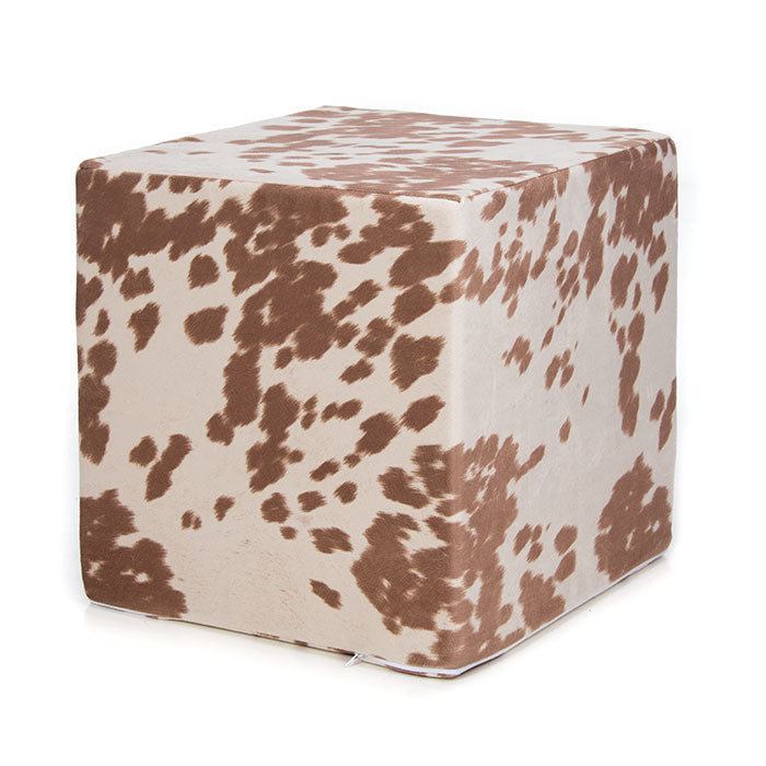 Tan Faux Cowhide, Pouf - Shop Baby Slings & wraps, Baby Bedding & Home Decor !