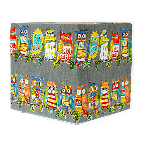 Hoot Grey, Pouf - Shop Baby Slings & wraps, Baby Bedding & Home Decor !
