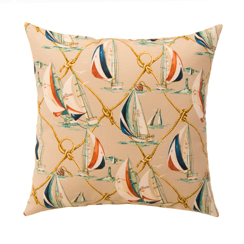 "Regatta Pillow 18"" - Shop Baby Slings & wraps, Baby Bedding & Home Decor !"