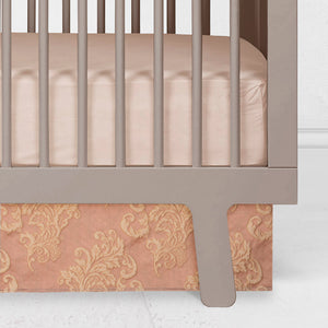 VIENNA BLUSH CRIB SKIRT