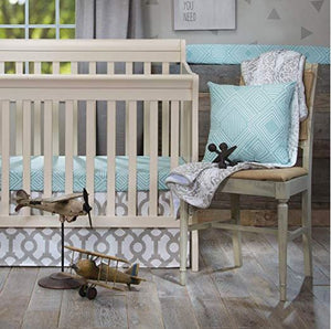 Soho Mini Crib 2pc Set (Includes Mini Fitted sheet and Mini Crib Skirt) - Shop Baby Slings & wraps, Baby Bedding & Home Decor !