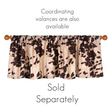 "Load image into Gallery viewer, Faux Cow Skin Drapery Panel Brown (90"" long x 50"" wide) - Shop Baby Slings & wraps, Baby Bedding & Home Decor !"