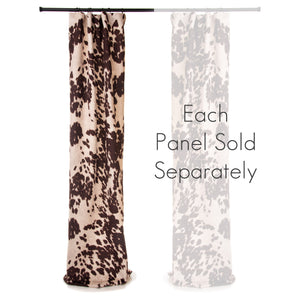 "Faux Cow Skin Drapery Panel Brown (90"" long x 50"" wide) - Shop Baby Slings & wraps, Baby Bedding & Home Decor !"