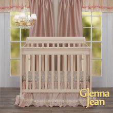 Load image into Gallery viewer, Lil Princess Mini Crib Fitted Sheet by Glenna Jean | Baby Girl Nursery + Hand Crafted with Premium Quality Fabrics | Fully Elasticized - Shop Baby Slings & wraps, Baby Bedding & Home Decor !