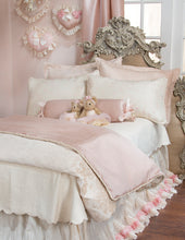 Load image into Gallery viewer, Victoria Large Sham (Pink Faux Silk) - Shop Baby Slings & wraps, Baby Bedding & Home Decor !