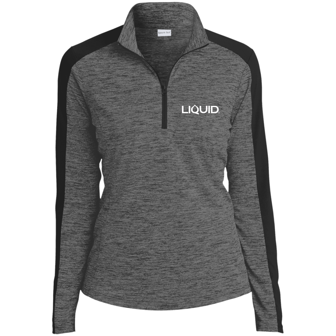 LST397 Ladies' Electric Heather Colorblock 1/4-Zip Pullover - Liquid Hydration Gear