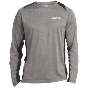ST361LS Long Sleeve Heather Colorblock Poly T-Shirt - Liquid Hydration Gear