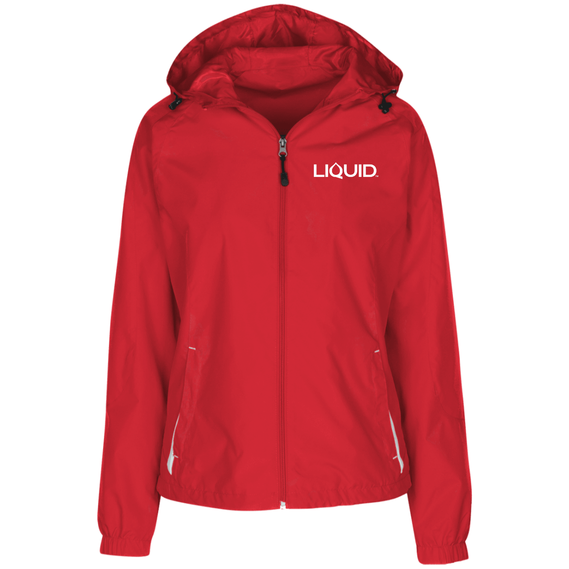 LST76 Ladies' Jersey-Lined Hooded Windbreaker - Liquid Hydration Gear