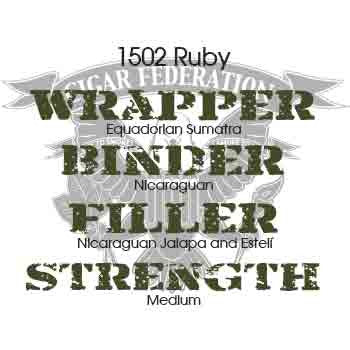 1502 Cigars Ruby Equadorian Sumatra Wrapper
